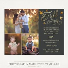 Fall Mini Sessions Template - Photography Marketing Board - Fall Minis…