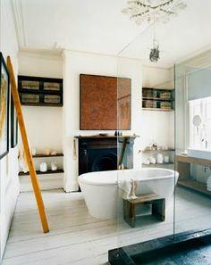 bathroom fireplace #fireplace #bathroom