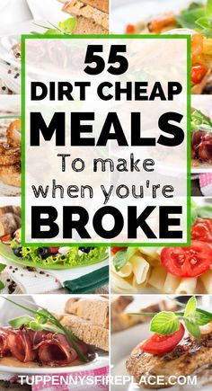55 Cheap And Easy Meals You Are Going To Love - Fantastic budget recipes for all the family. These healthy cheap dinner recipes are perfect for fam - Cheap Healthy Dinners, Dirt Cheap Meals, Cheap Meals To Make, Cheap Dinners, Food To Make, Cheap Veggie Meals, Extremely Cheap Meals, Cheap Healthy Meal Plan, Inexpensive Meals