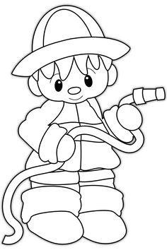 coloring pages fireman - Google Search