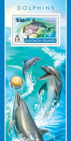 Post stamp Solomon Islands SLM 15208 b	Dolphins (Tursiops aduncus)
