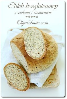 Bread with herbs Sin Gluten, Vegan Gluten Free, Gluten Free Recipes, Bread Recipes, Snack Recipes, Cooking Recipes, Polish Recipes, Dessert, Bread Baking