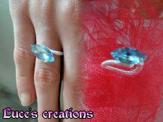Anello con pietra azzurra*-*