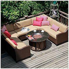 View Wilson U0026 Fisher® Riviera Resin Wicker 6 Piece Modular Seating Set  Deals At