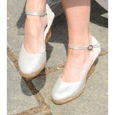Beautiful Cecile Silver Espadrilles!!!