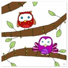 'Colorful Owls II' from totsy.com