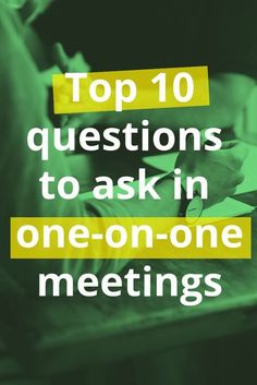 If you want some of the best one-on-one questions for your next direct report #meeting, check out this helpful list. #management #meetings #business #leadership