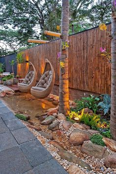Exciting Backyard And Front Yard Landscaping Design For Your Dream House S. - Diy Best Decor - - Exciting Backyard And Front Yard Landscaping Design For Your Dream House S. Modern Backyard, Small Backyard Landscaping, Modern Landscaping, Backyard Patio, Landscaping Design, Patio Design, Patio Fence, Sloped Backyard, Small Patio