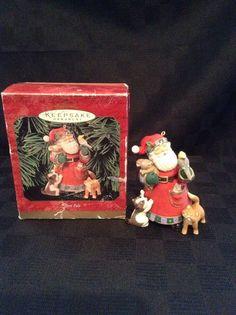 Hallmark Keepsake 1995 Best Pals Santa Animals Birds Cat Christmas Tree Ornament