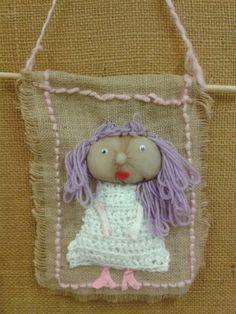 2. Luokka Textiles, Burlap, Reusable Tote Bags, Christmas Ornaments, Holiday Decor, Crafts, Teacher Stuff, Craft Work, Handarbeit