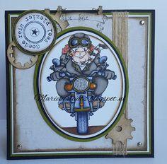 Dr. Digi stamps - Beryl the biker