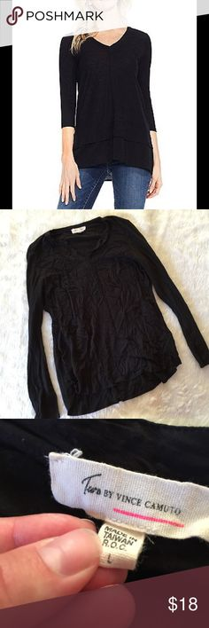 Two by Vince Camuto Black Blouse This blouse is in great condition! Size large. Smoke and pet free home. No trades. No flaws like stains or holes. Offers welcome! 😊 Two by Vince Camuto Tops Blouses