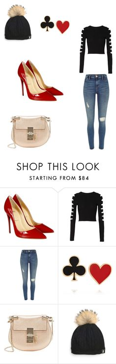 """""""Untitled #60"""" by milafashion-35 ❤ liked on Polyvore featuring Christian Louboutin, Cushnie Et Ochs, River Island, Alison Lou and Chloé"""