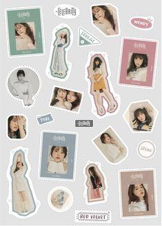 Red velvet k-pop Exo Stickers, Korean Stickers, Tumblr Stickers, Printable Stickers, Cute Stickers, Red Aesthetic, Kpop Aesthetic, Minecraft Banner Designs, Red Velvet Photoshoot
