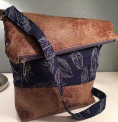 FoldOver+Tasche,+Schultertasche,+Canvas+von+Kleine+Wollbude+auf+DaWanda.com