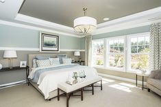 Calm, cozy master bedroom :: M/I Homes of Raleigh: Overlook At Amberly - Hawthorne Model