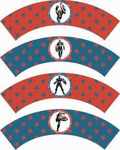 Laine Design: Freebies Cupcake Wraps, Cupcake Toppers, Captain America Party, Party Printables, Free Printables, Animal Birthday, Scrapbook Sketches, Superhero Party, Party Entertainment