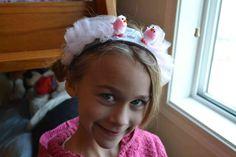 Pink Easter Chicks Pair Headband little girls pink by mailebaldwin