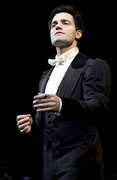 Ramin Karimloo, in white tie, for reference during a yet-to-be written (but definitely plotted) scene.