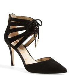 cutout ankle cuff suede pumps  http://rstyle.me/n/mvj6ipdpe