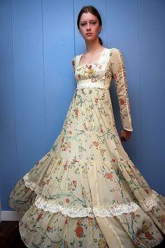 fullsweep gunne sax. Pattern isn't a favorite, but I love the cut of the dress!
