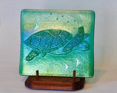 Sea Turtle | Etsy French Gothic Architecture, Wooden Display Stand, Sea Turtle Art, Sea Life Art, France Art, Nautical Art, Sea Creatures, Art Projects, Glass Art