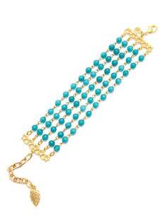 David Aubrey Teal Jade Multi-Strand Bracelet