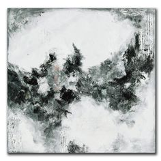 Large Mixed Media Black and White Abstract Original by andrada, $525.00