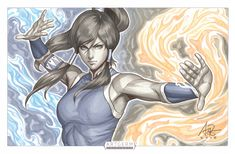 Korra Aura Original by Artgerm on DeviantArt