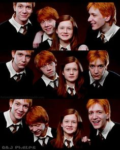 Ron, Ginny, Fred and George The babies of the family! :)