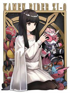 Anime Neko, All Anime, Anime Art, Kamen Rider Zi O, Kamen Rider Series, Marvel Cinematic, Power Rangers, Cute Girls, Character Art