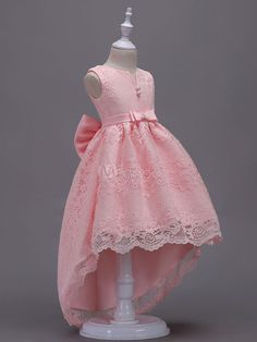 Lace Flower Girl Dresses Pink High Low Ball Gowns Sleeveless Bow Sash Princess P. - - Lace Flower Girl Dresses Pink High Low Ball Gowns Sleeveless Bow Sash Princess Party Dresses Source by christineucc Pink Flower Girl Dresses, Baby Girl Party Dresses, Girls Pageant Dresses, Lace Flower Girls, Little Girl Dresses, Ball Dresses, Ball Gowns, Baby Dress, Kids Dress Wear