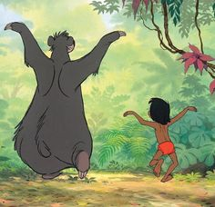 """Happy 50th Anniversary to one of my favorite childhood movies. Thanks for teaching me the Bare Necessities, to be wary of creepy hypnotizing snakes, and to never try and open a coconut with my head ;P Now excuse me while I go listen to """"I wanna be like you"""" on repeat for the rest of the day XD"""