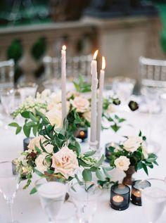 Elegant wedding table decor: http://www.stylemepretty.com/washington-dc-weddings/2016/12/29/stunning-lace-dress/ Photography: Simply Sarah - http://simplysarah.me/