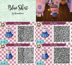 Blue Skirt by Sturmloewe - Animal Crossing New Leaf QR Code