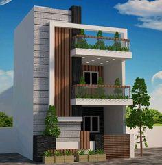 Front porch lighting ideas 22 Ideas for 2019 Duplex House Design, House Front Design, Modern House Design, Door Design, Exterior Design, Exterior Colors, Front Elevation Designs, House Elevation, Building Elevation