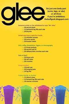 Glee | 43 Workouts That Allow You To Watch An Ungodly Amount Of Television