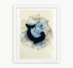 You and Me 2  Dolphins  Nursery Art  Home Decoration by YoyoArtLab, $35.00