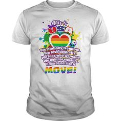 This is USA LGBT. Cute, Clever, Funny, Gay, Lesbian, LGBTQ, Gay Pride Week, Pride Colors, Flag, Rainbow, Quotes, Sayings, T-Shirts, Hoodies, Tees, Clothes For Women and Men, Gifts.