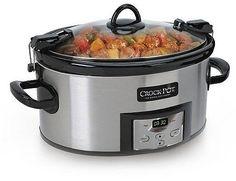 Crock-Pot 6 Qt. Programmable Cook & Carry Slow Cooker- Silver SCCPVL610T