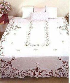 Luxury Bedding Sets On Sale Cutwork Embroidery, White Embroidery, Draps Design, Wedding Linens, Bed Linen Sets, Vintage Tablecloths, Luxury Bedding Sets, Bed Covers, Home Textile