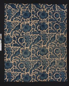 Bedcover Category: Textiles (Furnishing) Place of Origin: England, United Kingdom, Europe Date: 1770-1790 Materials: Cotton Techniques: Woven (plain), Block printed, Resist style Museum Object Number: 1951.0019