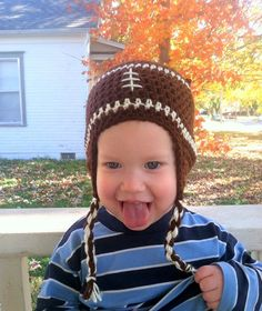 Football Hat by JHCrafter on Etsy