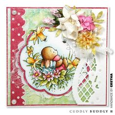 Pachela Studios Digital Stamp - Toby Tumble Happy Easter | Buddly Crafts Altered Tins, Marianne Design, Craft Shop, Scrapbook Cards, Scrapbooking, Copics, Digital Stamps, Easter Crafts, Happy Easter