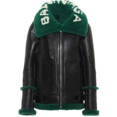 Balenciaga Shearling-Lined Leather Jacket (57.853.670 IDR) ❤ liked on Polyvore featuring outerwear, jackets, jacket's, black, balenciaga jacket, shearling lined jacket, balenciaga, real leather jackets and leather jackets