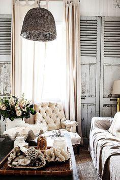 Un intérieur rustique et éclectique: chez Kara Rosenlund