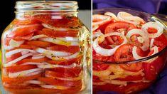 Rajčatový salát - můžete ho jíst klidně každý druhý den - lahodná a velm... Vegan Vegetarian, Vegetarian Recipes, Empanadas, Graham Crackers, Hummus, Onion, Salads, Bakery, Food And Drink