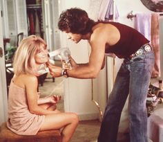 Warren Beatty as George and Julie Christie as Jackie in Shampoo 1975