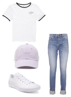 """""""Untitled #341"""" by xolafkax on Polyvore featuring Yves Saint Laurent, Vans and Converse"""