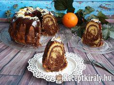 Csokoládés-narancsos márványos kuglóf Ring Cake, Sweet Life, Pound Cake, Xmas, Christmas, Scones, Fudge, Muffin, Food And Drink